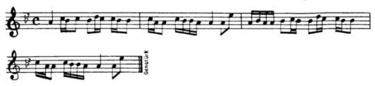 Meyriko (Meyrem) Ezgisinin Notası