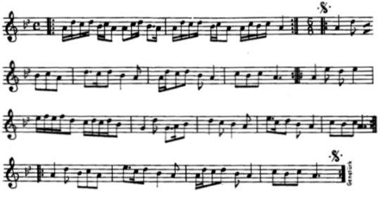 Papburi (Örük) Ezgisinin Notası